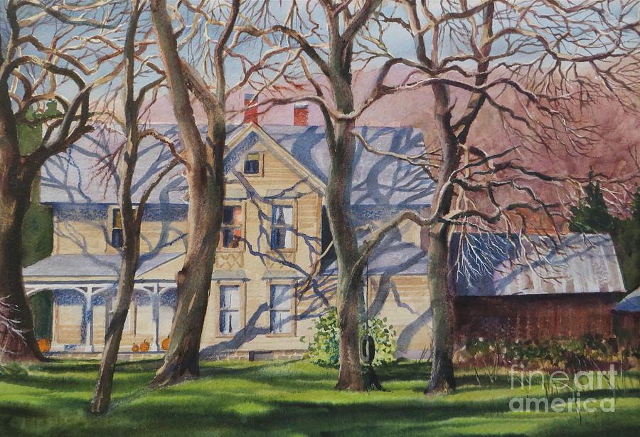 Trees Painting - Haunted by Karol Wyckoff