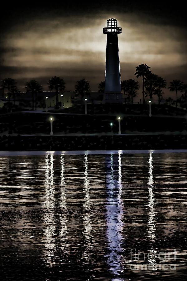 Lighthouse Digital Art - Haunted Lighthouse by Mariola Bitner
