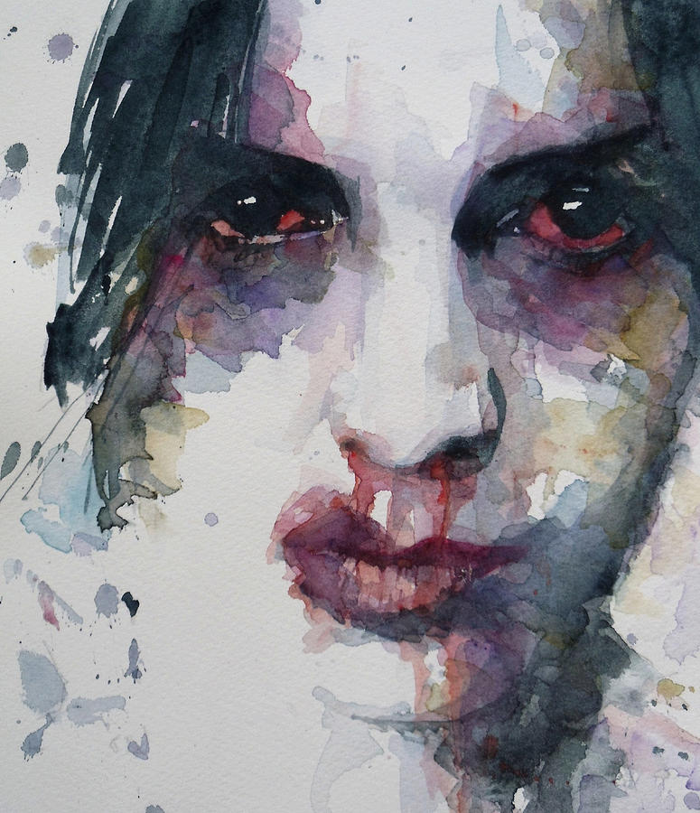 Portrait Painting - Haunted   by Paul Lovering