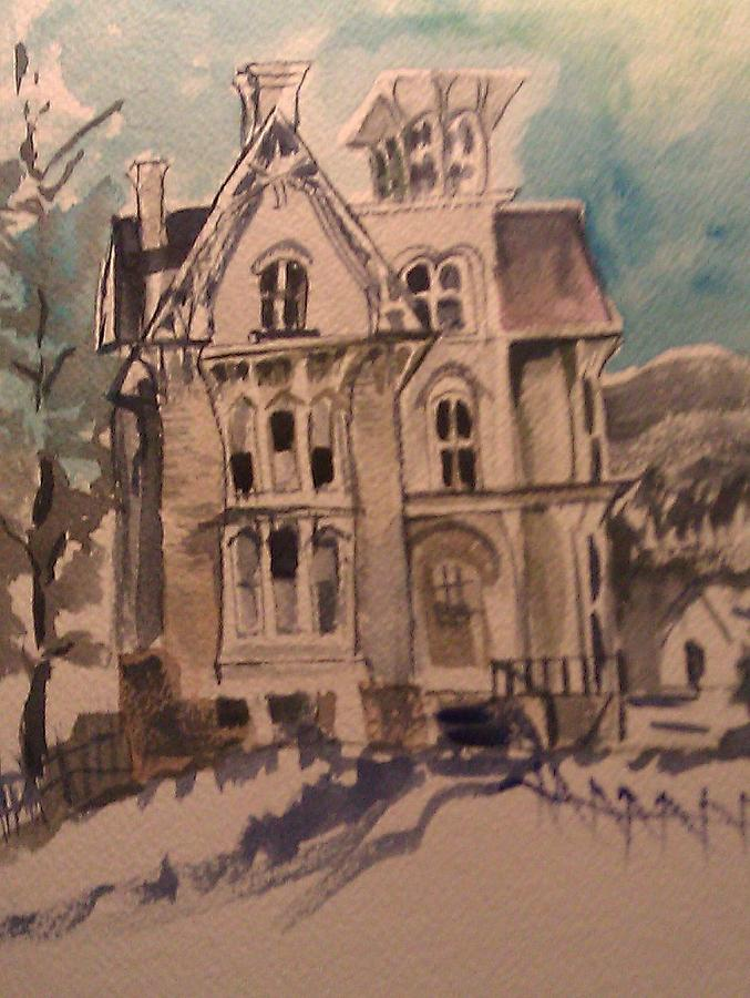 Old Houses Painting - Haunted by Susan Mumma