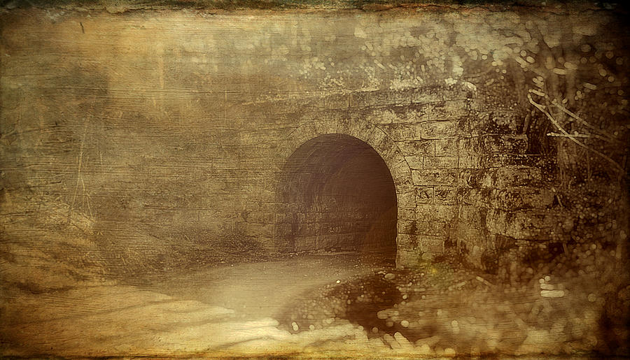 Tunnel Photograph - Haunted Tunnel by Kathy Jennings