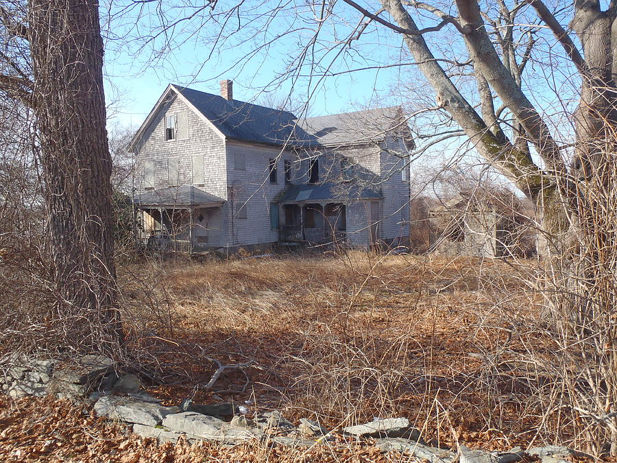 Farmhouse Photograph - Haunting 1 by Robert Nickologianis