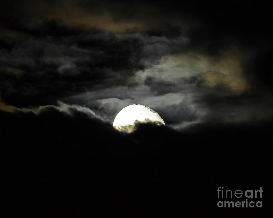 Moon Photograph - Haunting Horizon 02 by Al Powell Photography USA
