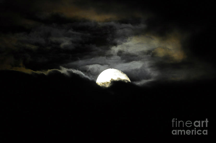 Moon Photograph - Haunting Horizon by Al Powell Photography USA