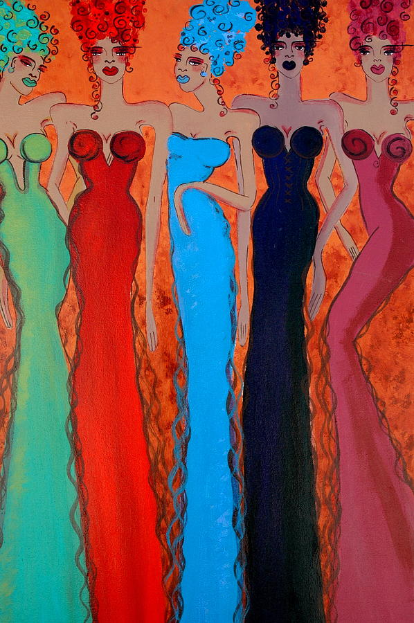 Sisters Painting - Haute Colours  by Helen Gerro