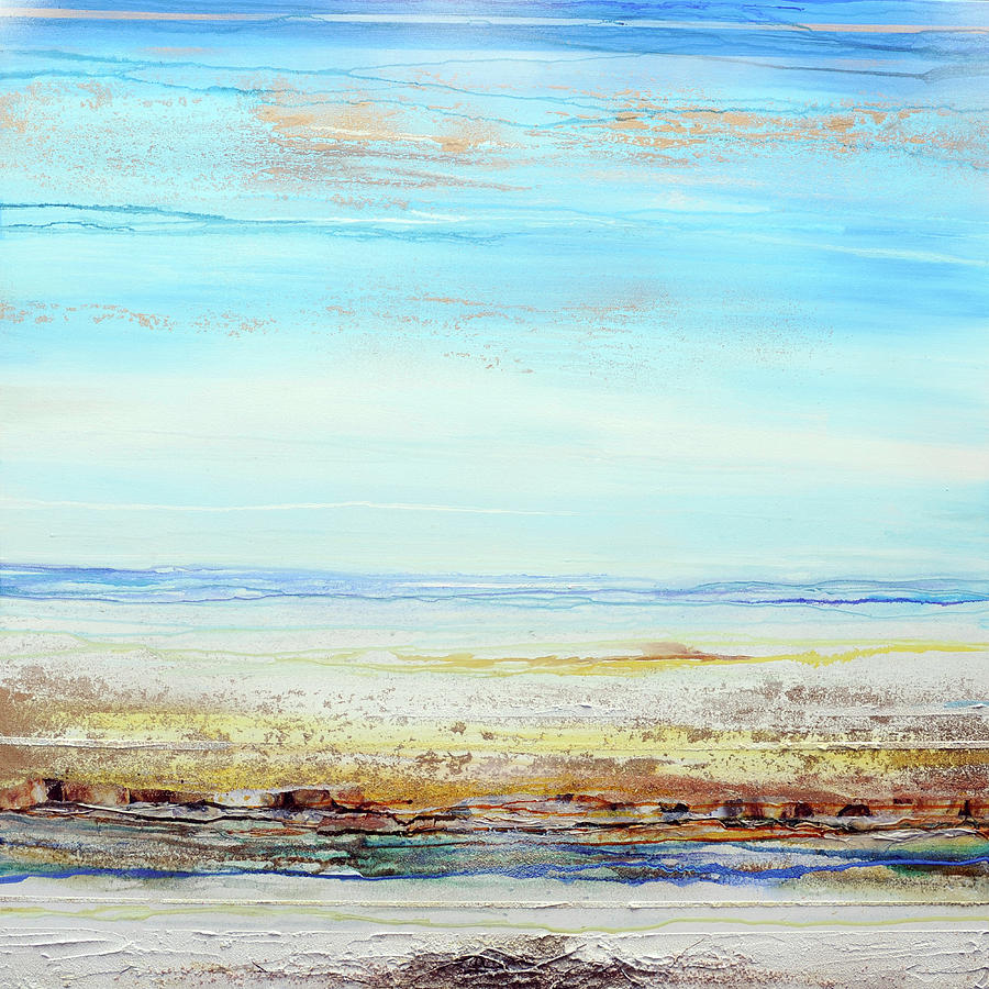 Low Tide  Mixed Media - Hauxley Haven Low Tide Rhythms And Driftwood by Mike   Bell