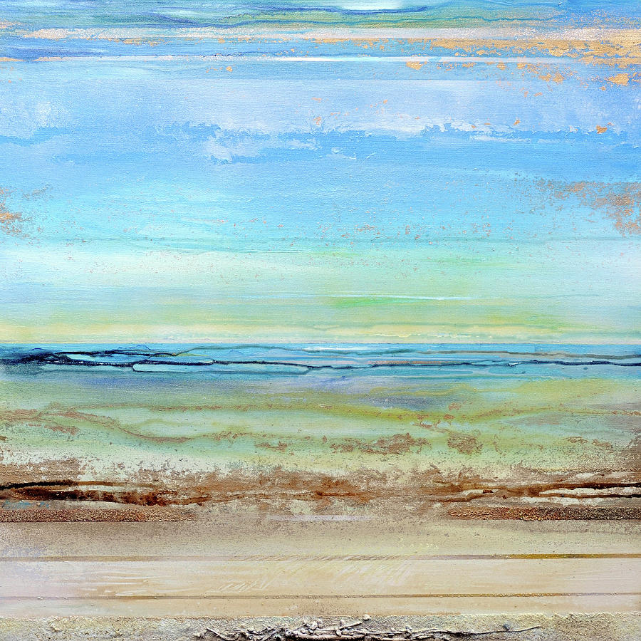 Coast Mixed Media - Hauxley Haven Low Tide Rhythms And Textures 1c by Mike   Bell