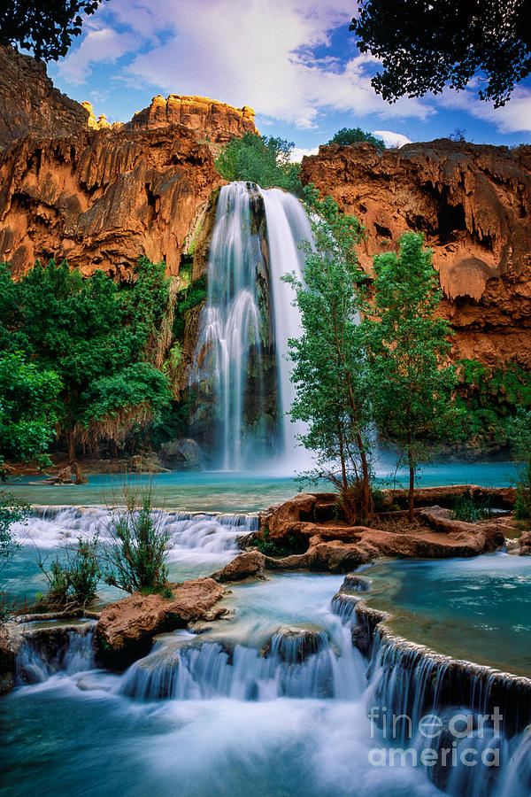 America Photograph - Havasu Cascades by Inge Johnsson
