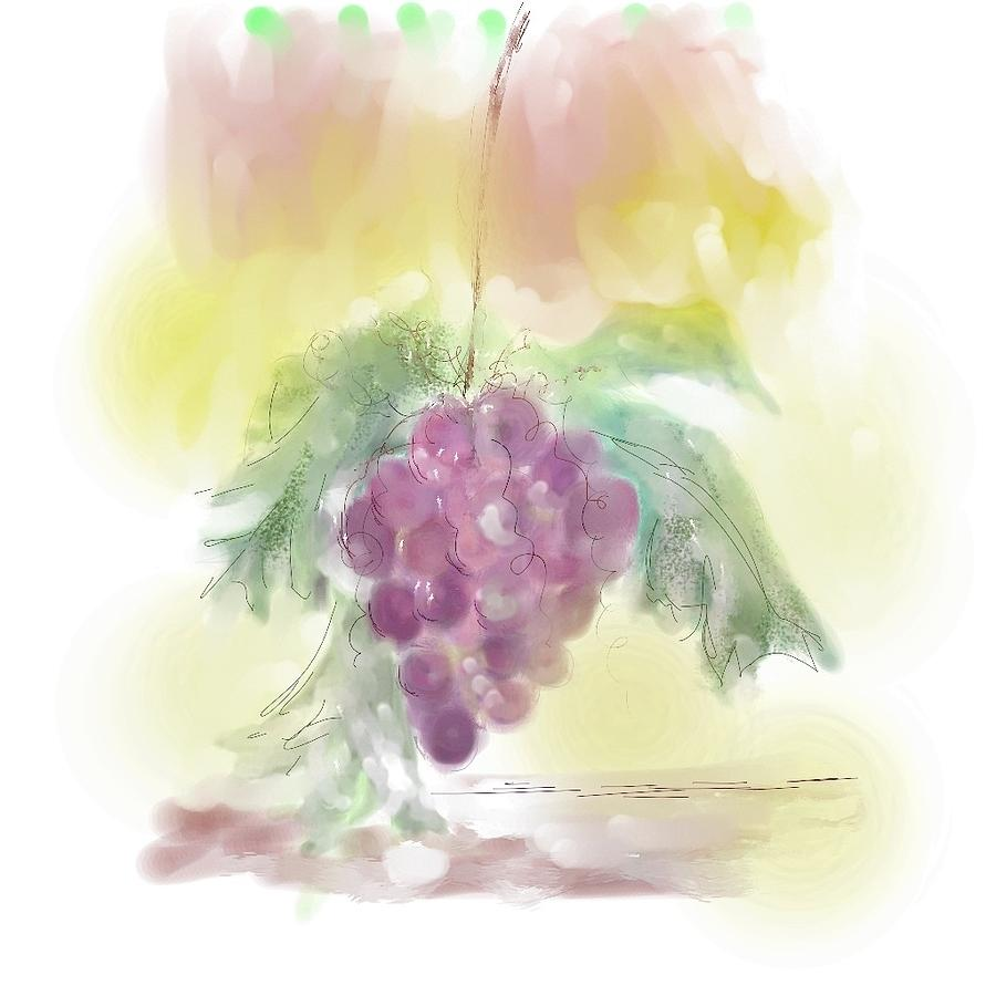 Grapes Painting - Have A Grape Day by Peggy Bosse