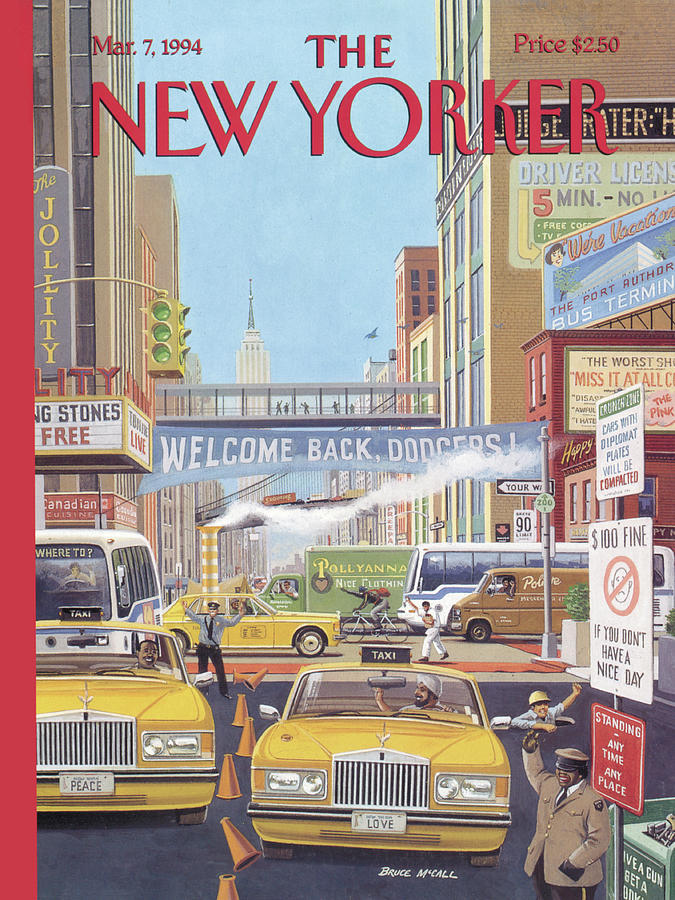 New Yorker March 7th, 1994 Painting by Bruce McCall
