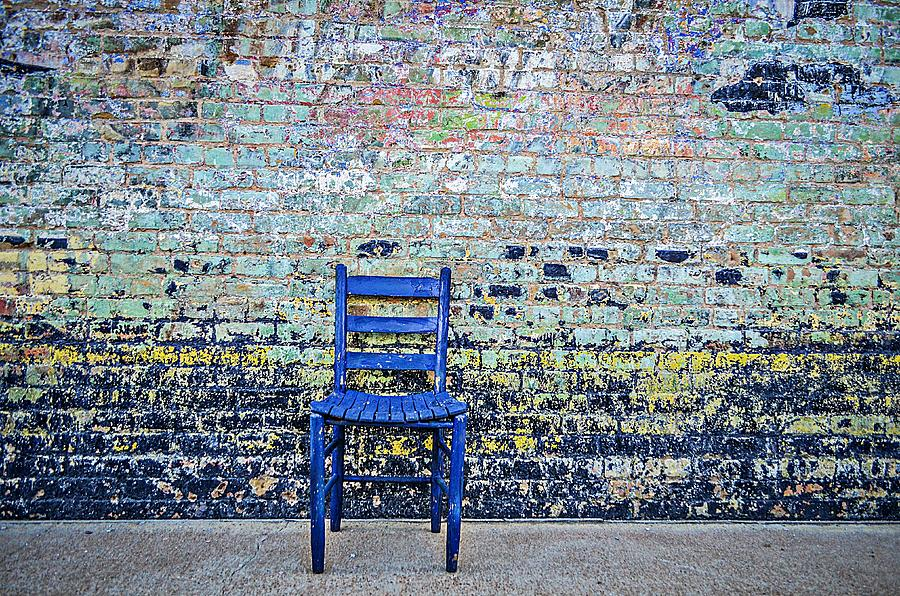 Blue Chair Photograph - Have A Seat by Kelly Kitchens