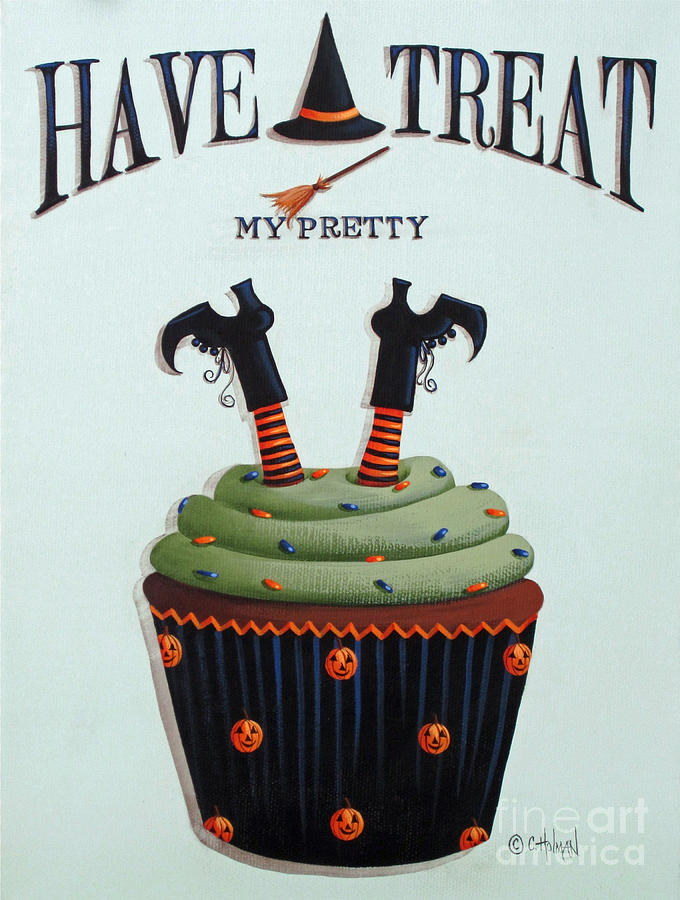 Cupcake Painting - Have A Treat My Pretty by Catherine Holman