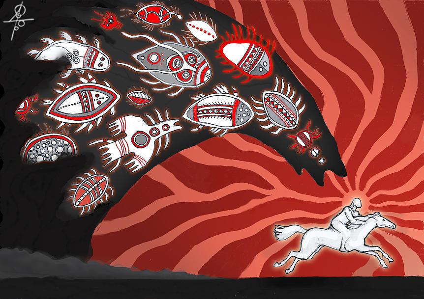 Shaman Digital Art - Have Time To Wake Up by Maxim Sukharev