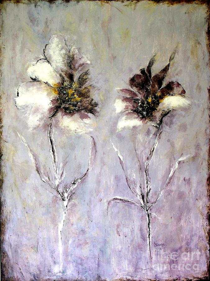 Flowers Painting - Have You Heard.....? by Madeleine Holzberg