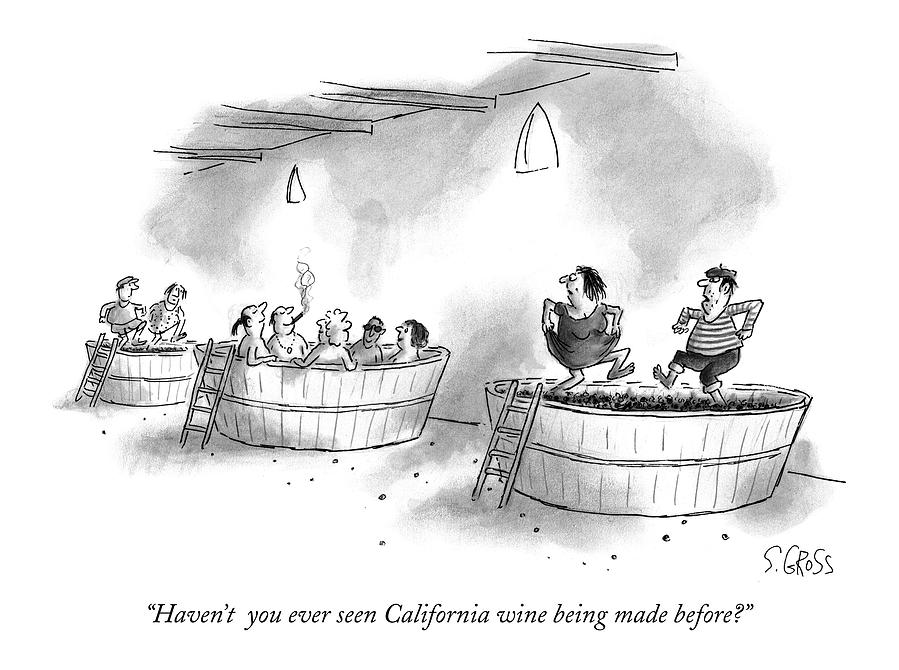 Havent  You Ever Seen California Wine Being Made Drawing by Sam Gross