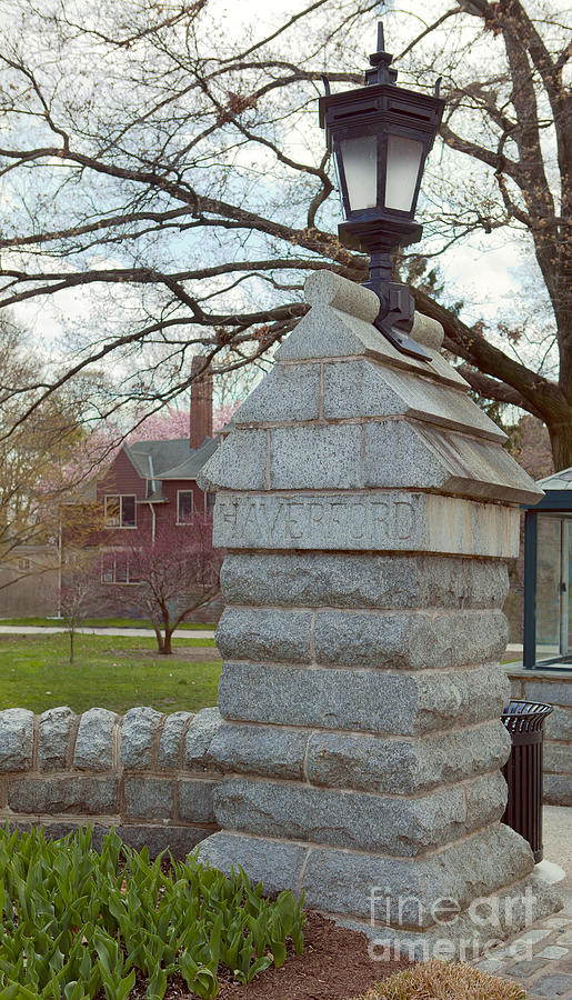 Haverford College Photograph - Haverford College Entrance by Kay Pickens