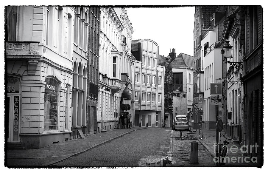 Road Photograph - Having A Smoke In Bruges by John Rizzuto