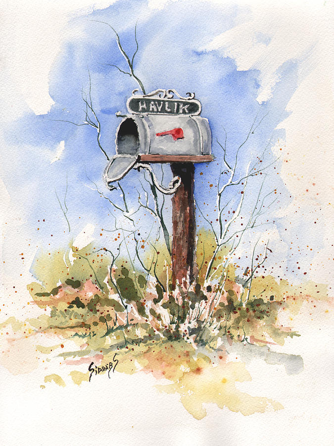 Mail Painting - Havliks Mailbox by Sam Sidders