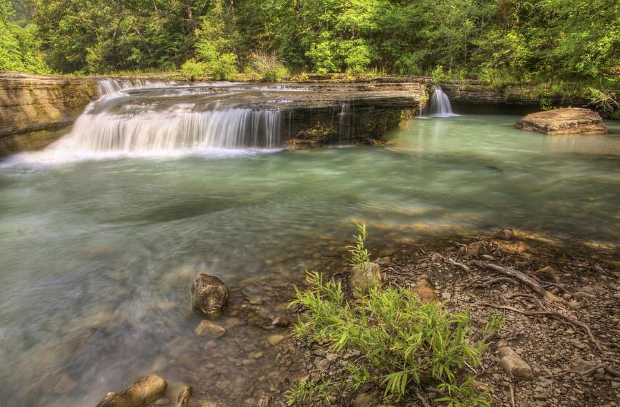 Waterfall Photograph - Haw Creek Falls Basin - Ozarks - Arkansas by Jason Politte