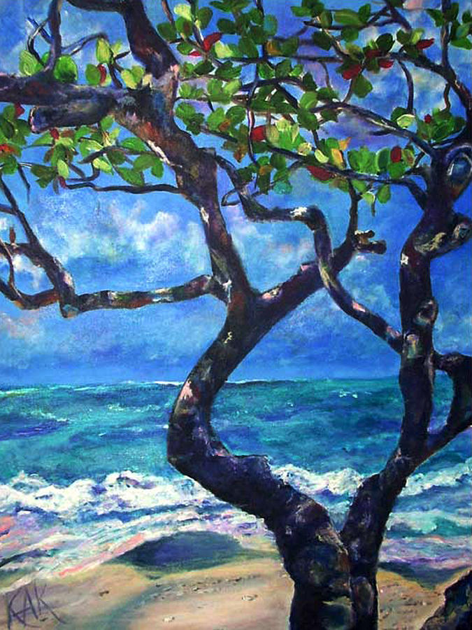 Tree Painting - Hawaii by Art by Kar