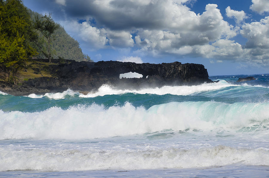 Blow Hole Photograph - Hawaii Coastline by Don and Bonnie Fink