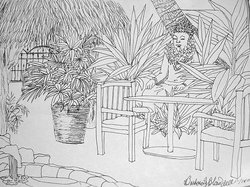 Hawaii Coloring Page Drawing By Barbara J Blaisdell