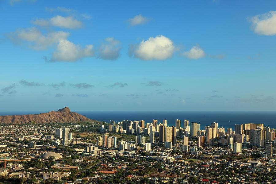 Hawaii, Oahu, Honolulu Skyline Photograph by Michele Falzone