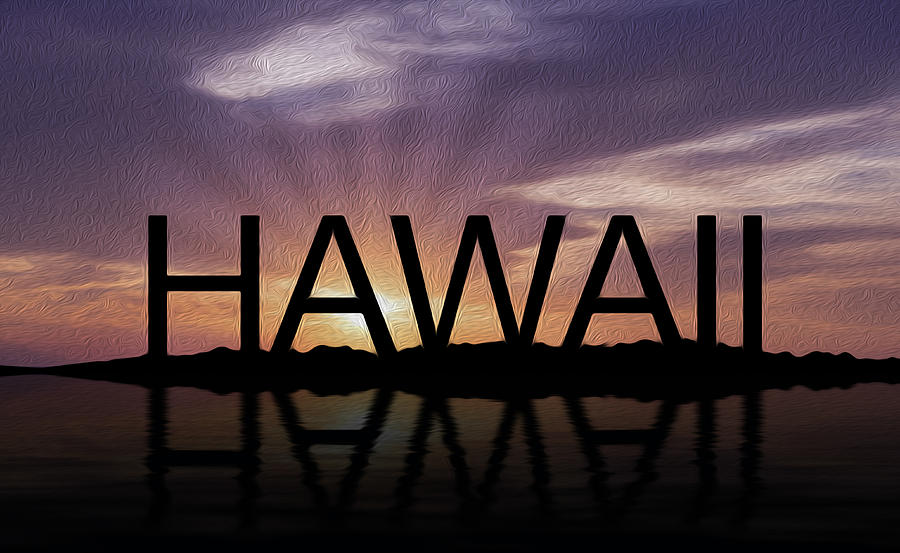 Sunset Photograph - Hawaii Tropical Sunset by Aged Pixel