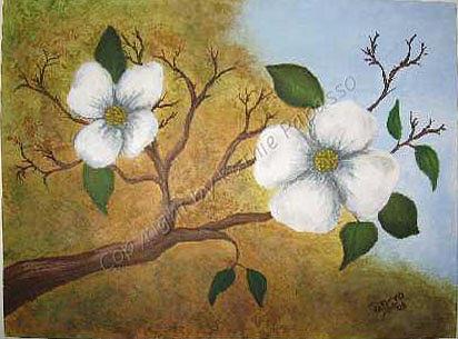 Flowers Painting - Hawaiian Flowers by Kathie Papasso