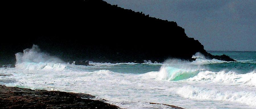 Pu'u O Kaiaka Photograph - Hawaiian Heiau by James Temple