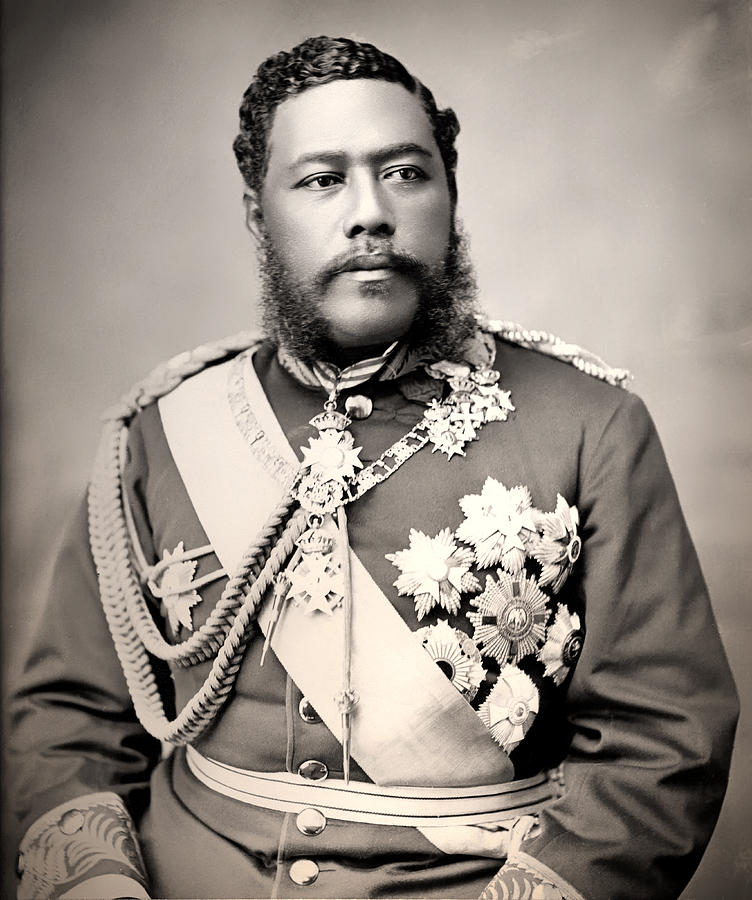 King Photograph - Hawaiian King David Kalakaua 1882 by Mountain Dreams