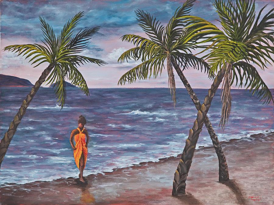Hawaii Painting - Hawaiian Maiden by Darice Machel McGuire