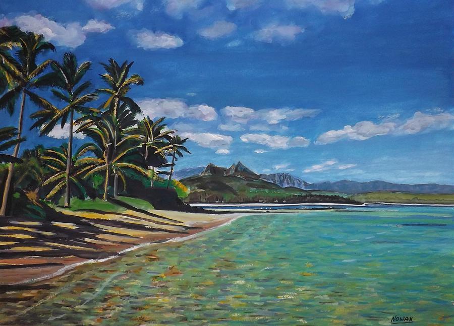 Hawaii Painting - Hawaiian Paradise by Richard Nowak
