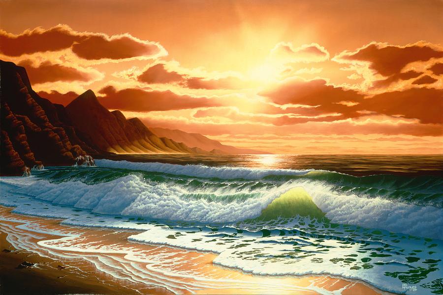 Hawaiian Sunset by Del Malonee