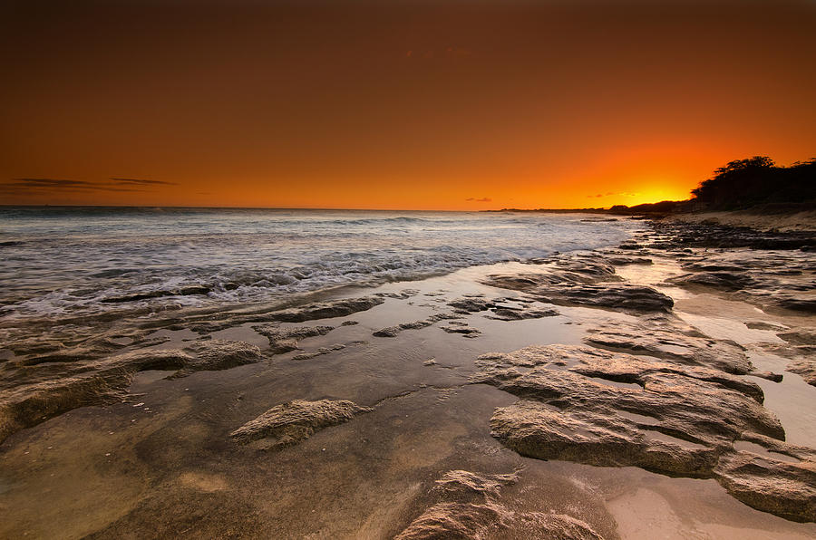Nimitz Beach Photograph - Hawaiian Sunset by Tin Lung Chao