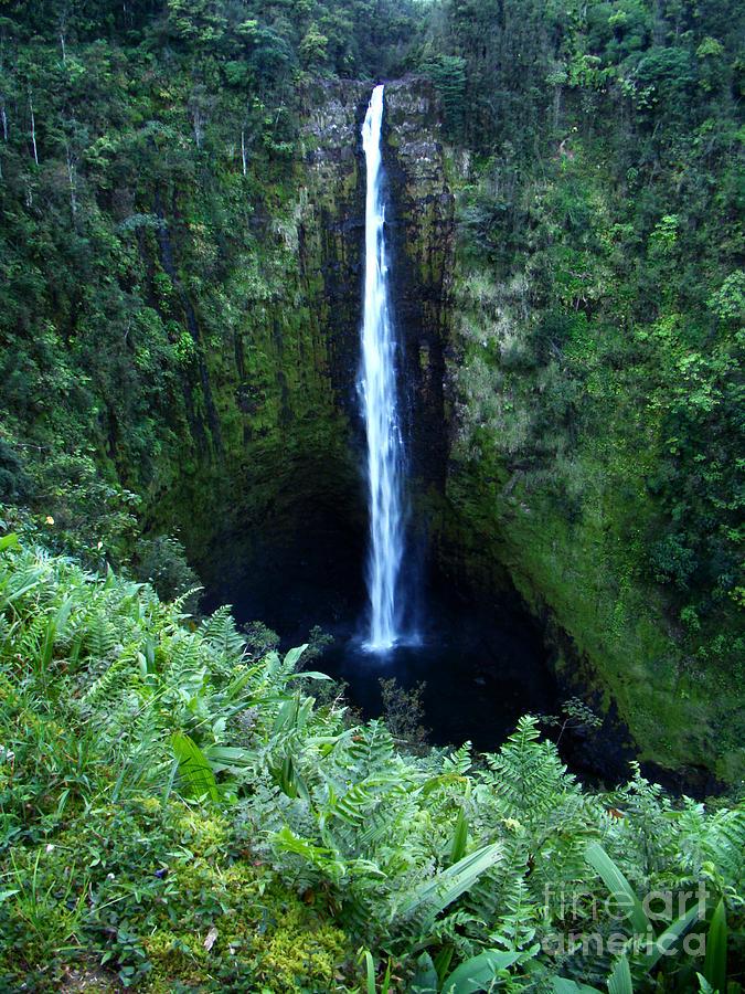 Landscape Photograph - Hawaiian Waterfall by Eva Kato