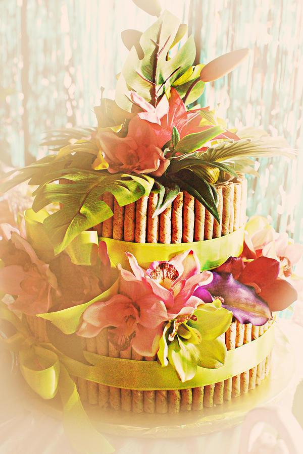 Hawaii Photograph - Hawaiian Wedding Cake by Susan Bordelon