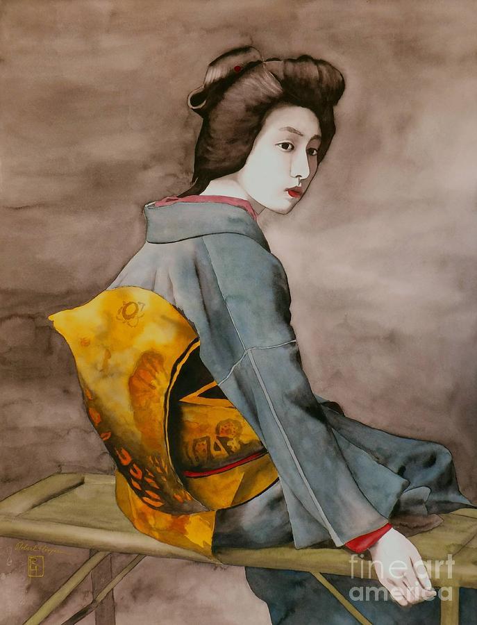 Watercolor Painting - Hawaryu by Robert Hooper