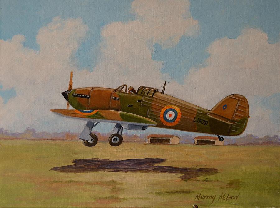 Hawker Hurricane Painting by Murray McLeod