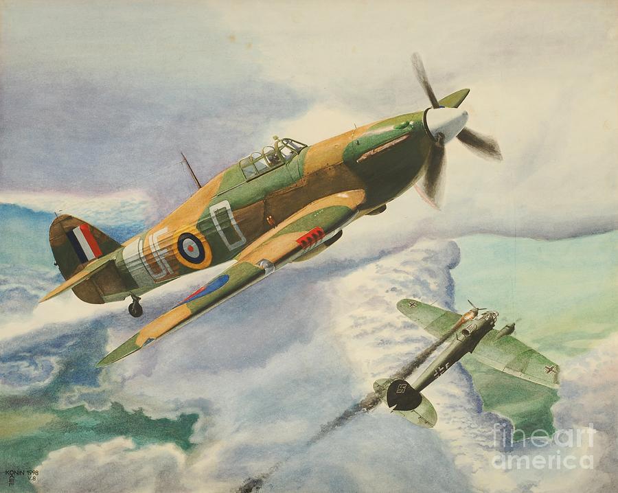 Hawker Hurricane Painting By Oleg Konin