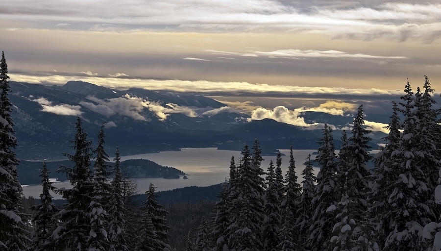 Winter Scenic Photograph - Hawkins Point by Randolph Fritz