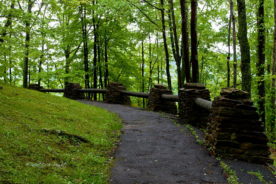 Feature Photograph - Hawks Nest Path by Paulette B Wright