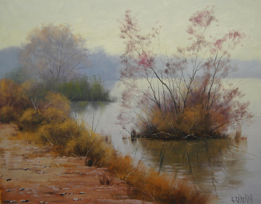 River Painting - Hawksbury River Painting by Graham Gercken