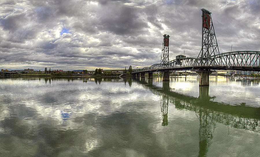 Hawthorne Bridge Photograph - Hawthorne Bridge Over Willamette River by David Gn