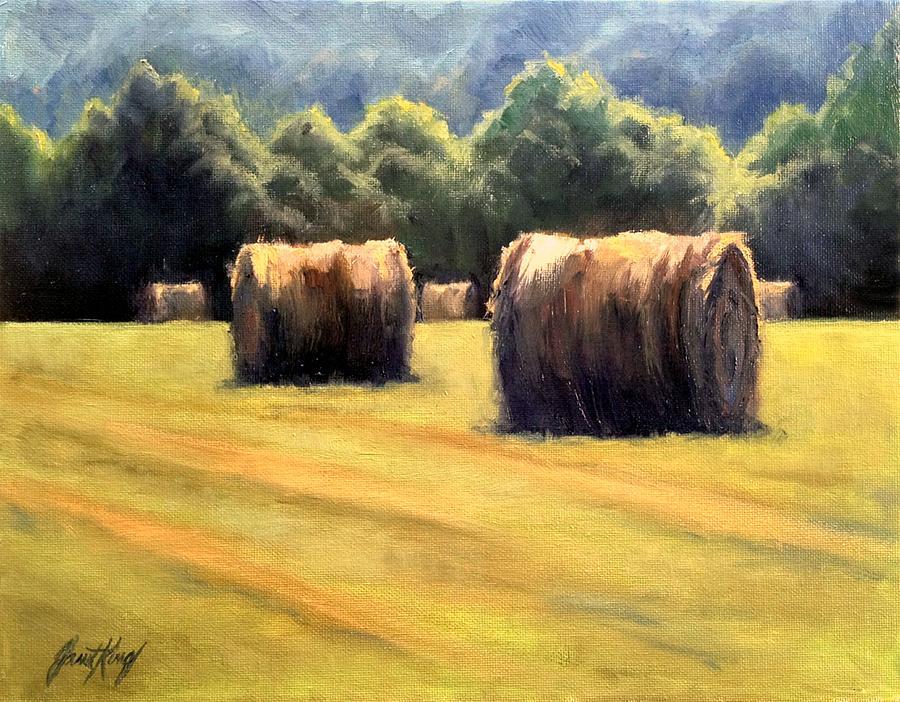 Hay Bales Painting - Hay Bales by Janet King