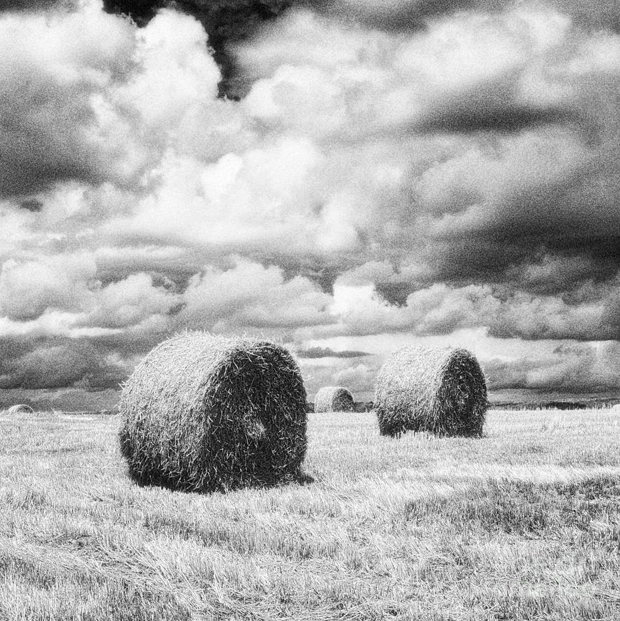 Hay Bales Photograph - Haybales Uk by Jon Boyes