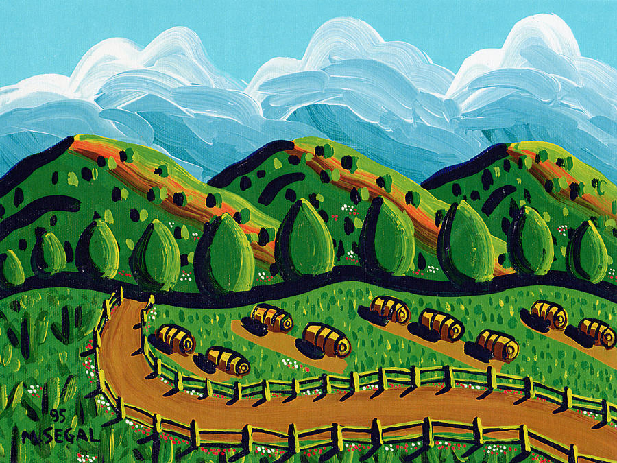Hay Painting - Hayday by Mike Segal