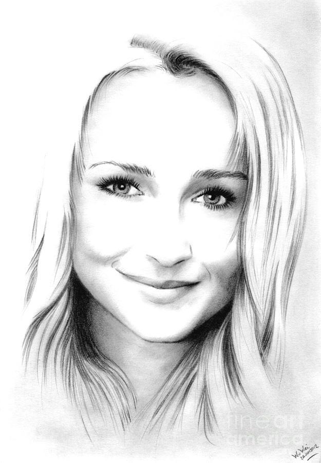 Hayden Panettiere Drawing - Hayden Panettiere by Wu Wei