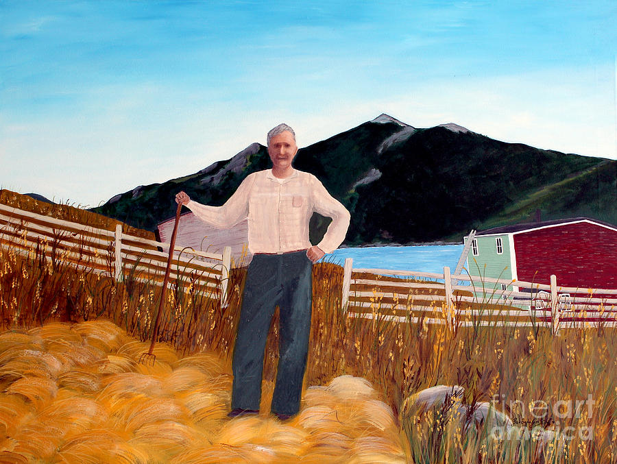 Haymaker Painting - Haymaker With Pitchfork  by Barbara Griffin