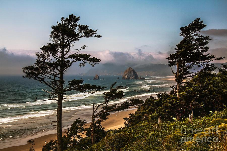 Haystack Rock Photograph - Haystack Framed by Robert Bales